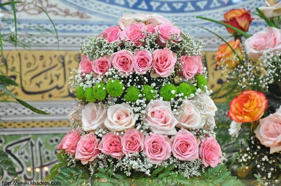 دسته گل تزئینی به مناسبت میلاد مهدی موعود (عج)