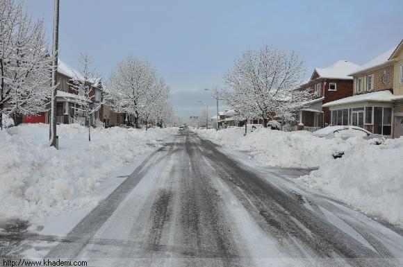 برف زمستانی